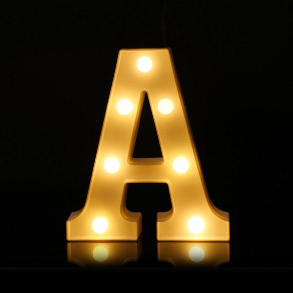 LED 알파벳 A 무드등 조명 기념일 이벤트 인테리어 상품이미지
