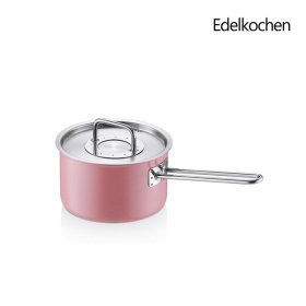 Edelkochen Whole 3-ply Solid Single-handled Pot 16cm (Lotus Pink)