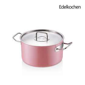 Edelkochen Whole 3-ply Solid Stock Pot 24cm (Lotus Pink)