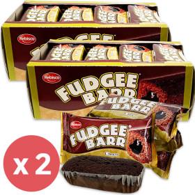 FUDGEE BARR Chocolate Flavor Cake Bread (42g x 12pcs) 504g x 2 packs