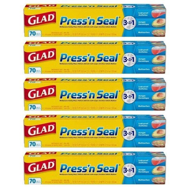 Glad 글래드 프레스 앤 씰 랩 70sq.ft 21.6mX30cm 5팩 상품이미지