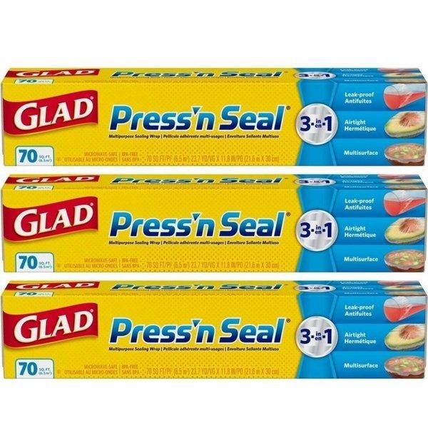 Glad 글래드 프레스 앤씰 랩 70sq.ft 21.6mX30cm 3팩 상품이미지
