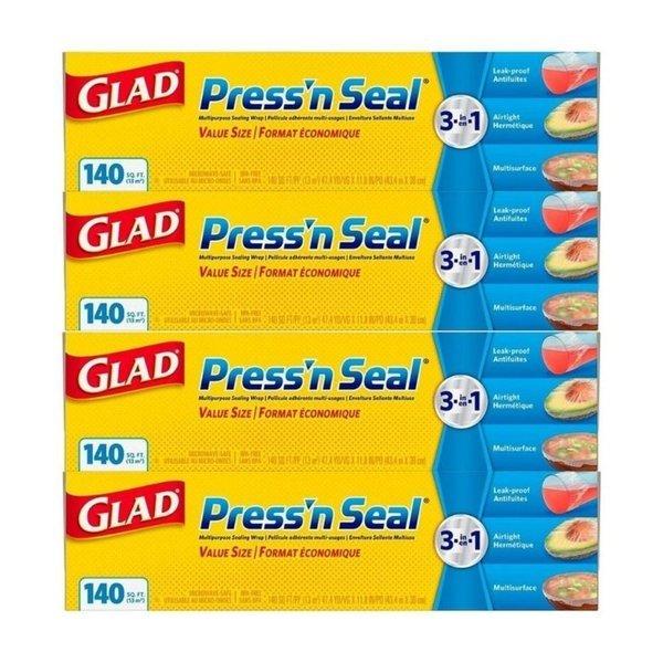 Glad 글래드 프레스 앤씰 랩 140sq.ft 43.4mX30cm 4팩 상품이미지
