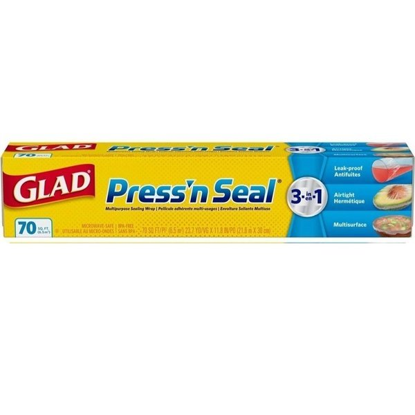 Glad 글래드 프레스 앤씰 랩 70sq.ft 21.6mX30cm 12팩 상품이미지