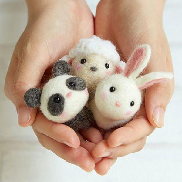 (펫돌) 하마나카 양모펠트 DIY키트 작은 동물 친구들 441-481 상품이미지