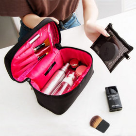 732 Big Pocket Cosmetic Pouch Travel Mesh Pouch Brush Organizing