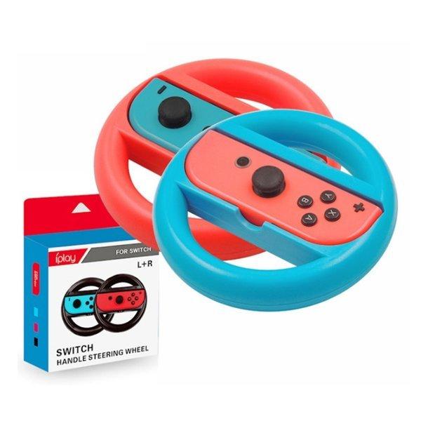 닌텐도 스위치 조이콘 레이싱휠 핸들 레드+블루 세트 상품이미지