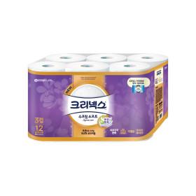 3겹 수프림 소프트 화장지 27M12롤x1팩/휴지