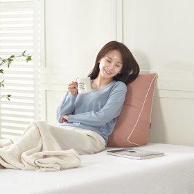 킹리치 등받이 침대 삼각쿠션 허리베개 소형