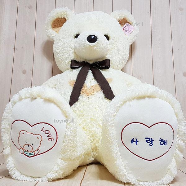 반달곰 인형 120cm 대형 곰인형 아이보리 기본형 상품이미지