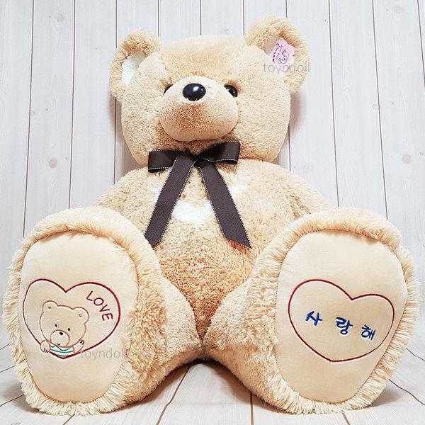 반달곰 인형 120cm 대형 곰인형 베이지 기본형 상품이미지