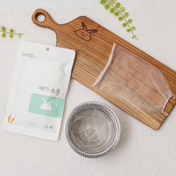애기쓰봉 - 생분해 싱크대 거름망 씽크대 자연 15매 상품이미지