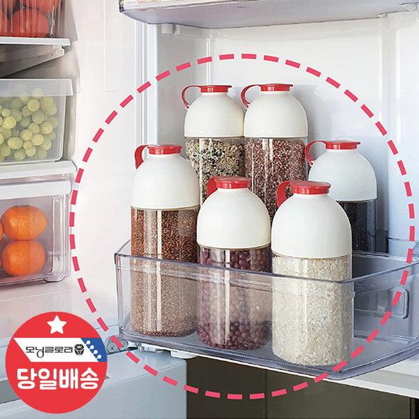 1.1리터 곡물통 3호3개-미니쌀통 견과류 냉장고 용기 상품이미지