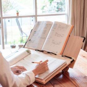 항균 국산 2단 독서대 양방향 필기 책받침대 항균 60Cm