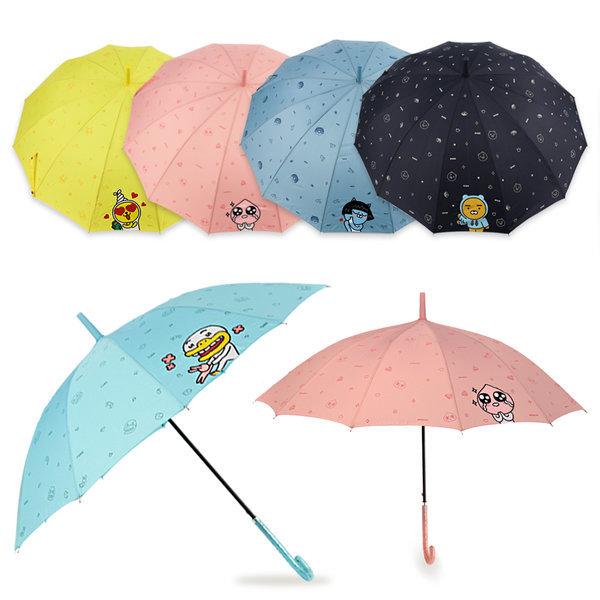 카카오프렌즈 치얼업 장우산 자동우산 장마 긴우산 상품이미지