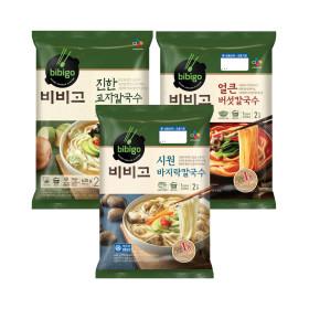 칼국수 3개 (진한교자+얼큰버섯+바지락)