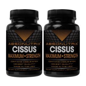 2개 Absonutrix 시서스 가루 추출물 1600 mg 120 캡슐 빠른직구