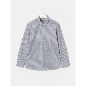 블루 코튼 스트라이프 셔츠 (RY1164P11P)