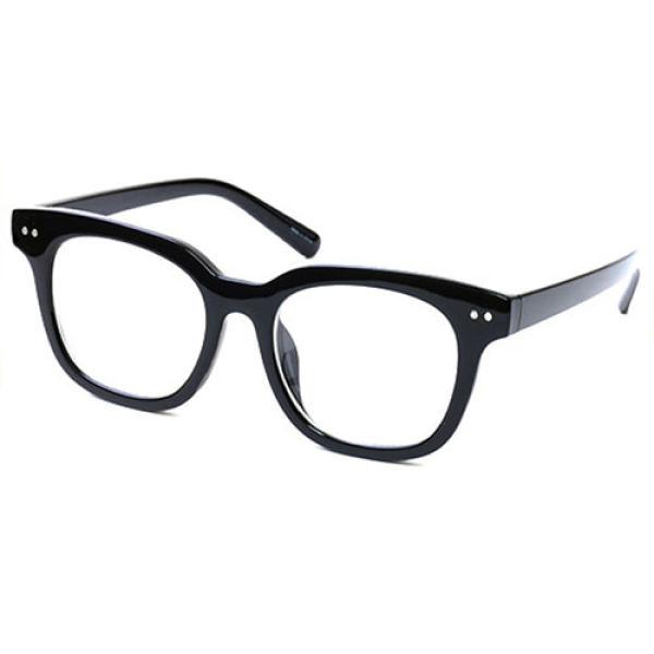 안경 싸다 사각 빅사이즈 뿔테 (블랙) 심플 패션 선물 상품이미지