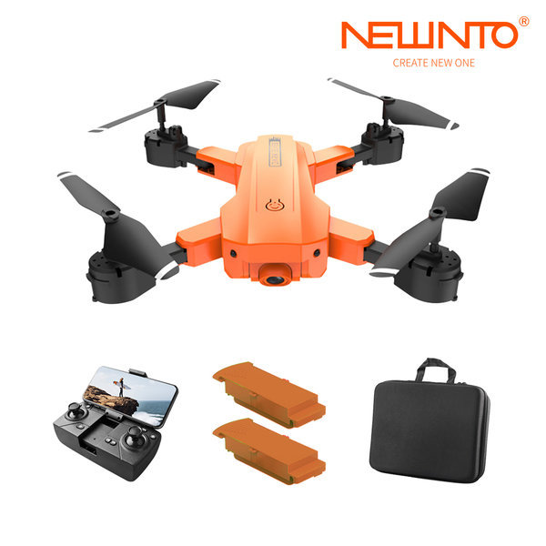 HR H9드론5G/4K항공촬영 입문드론 오렌지+가방+배터리 상품이미지