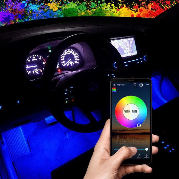 삼항 12V RGB 블루투스 컨트롤 LED바 풋등 키트 세트 상품이미지