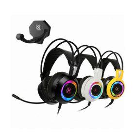 COX CH50 가상 7.1 진동 RGB LED 헤드셋 옐로우