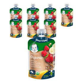 오가닉 파우치 바나나딸기라즈베리 99g 12+4 (총 16개)