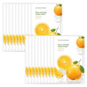 10+10 리얼 네이처 에센스 마스크팩 오렌지