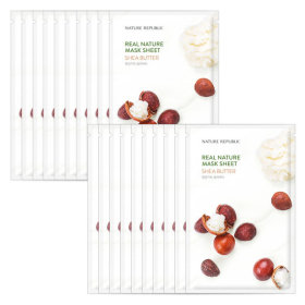 Nature republic 10+10 real nature mask pack/mask sheet shea butter