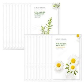 Nature republic 10+10 real nature mask pack/mask sheet cucumber