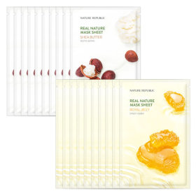 Nature Republic 10+10 Real Nature Essence Mask Pack Shea Butter + Royal Jelly