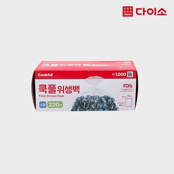 다이소 쿡풀 위생백(소 220매)-1024210 상품이미지