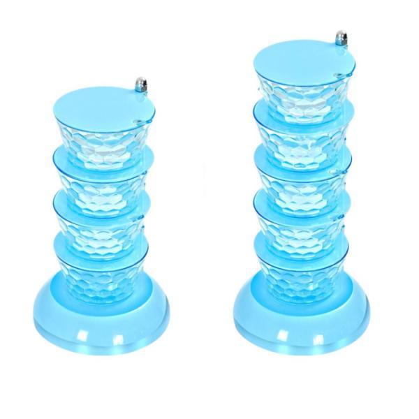 다층형 회전식 양념통 조미료보관용기 소금통 블루5단 상품이미지