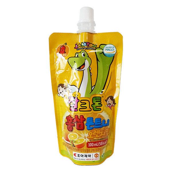 잘크톤 홍삼 튼트니 오렌지맛 100ml 어린이 음료수 상품이미지