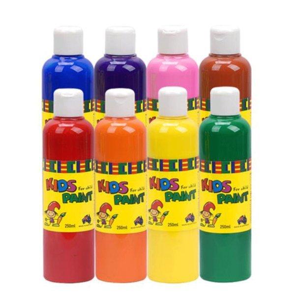 키즈페인트 250ml 8색 그림 미술 색칠 그리기 교구 상품이미지
