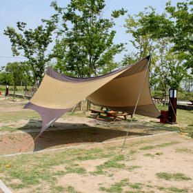 5.6M 캠핑 헥사 타프 /햇빛차단 방수 그늘막 레저용품