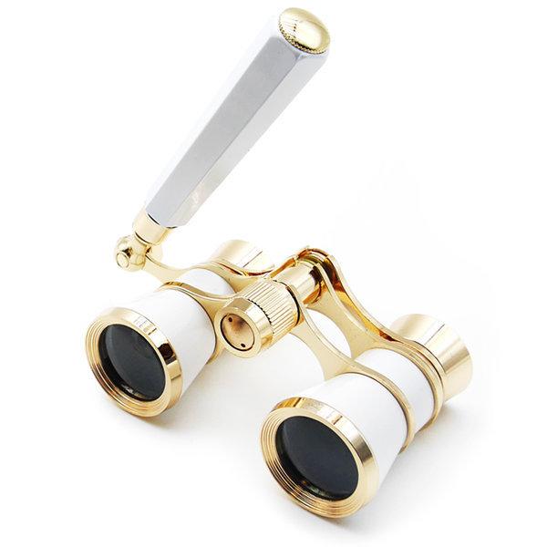 오페라글라스 손잡이형 화이트 망원경 콘서트 쌍안경 상품이미지
