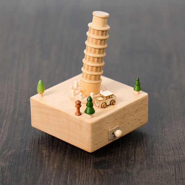 나무 원목 대만 오르골 (피사의사탑) 상품이미지