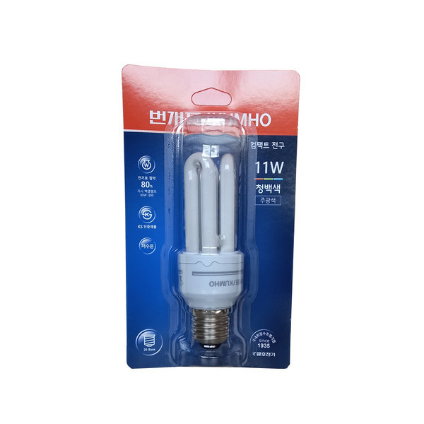 번개표 컴팩트 전구 11W  주광색 안정기 내장형 램프 상품이미지