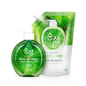 주방세제 순샘 구연산/베이킹소다 500mlx4개(자2피2)