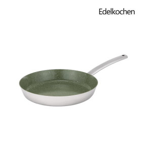 Whole 3-ply Edel Ceramica Frying Pan 26cm (Olive Green Ceramic)