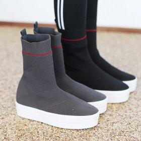 여성 니트운동화 통굽 운동화 스니커즈 신발 캘리포