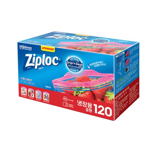 지퍼락 지퍼백 이지오픈탭 냉장중형 120매 상품이미지