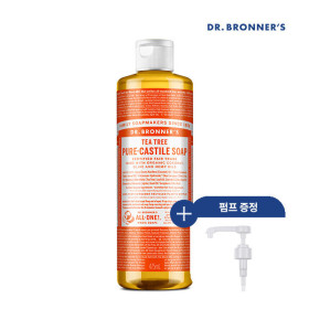 [닥터브로너스] [닥터 브로너스] 티트리 퓨어 캐스틸 솝 475ml+펌프
