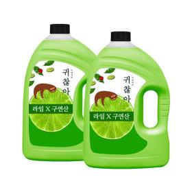 1종 주방세제 친환경 라임향 3L 2개