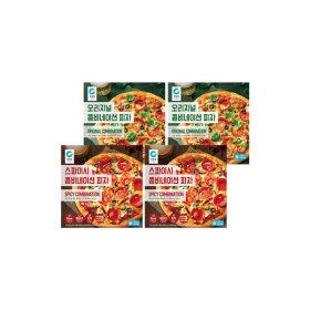 콤비네이션 피자 2종(오리지널/스파이시) 총4개(각2개)