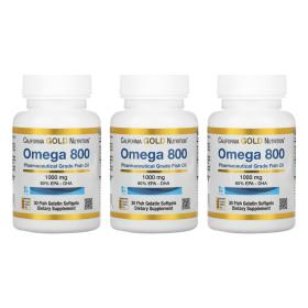 (아이허브) 3개X CGN 오메가 800 피쉬오일 80% EPA DHA 1000mg 30소프트젤 빠른직구