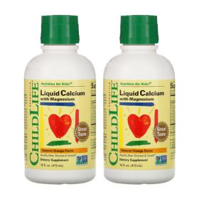 (아이허브) 2개X ChildLife 칼슘 마그네슘 어린이용 오렌지맛 473ml 빠른직구