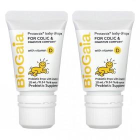 (아이허브) 2개X 프로텍티스 베이비 드롭 아기 유산균 비타민D 10ml 빠른직구