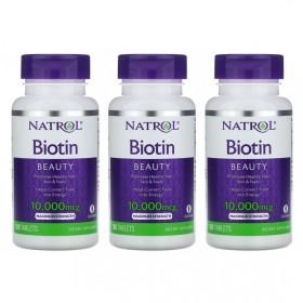 (아이허브) 3개X NATROL 비오틴 10000mcg 100정 바이오틴 빠른직구